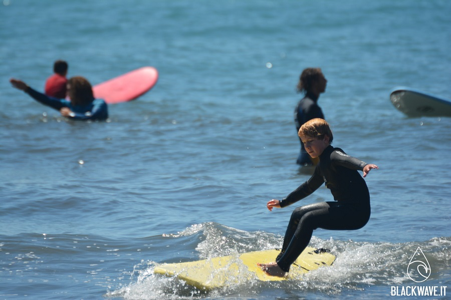 surf con bambini