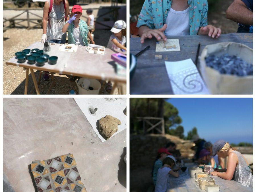 Toscana con bambini. Visita all'acropoli di Populonia con laboratorio di Mosaico…una bellissima esperienza!