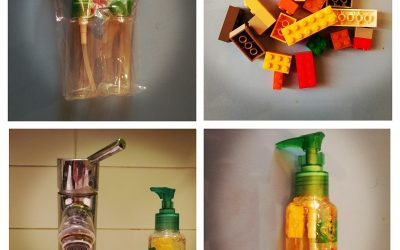 Dispenser di sapone con Lego Fai Da Te …… Soap Dispenser with Diy Lego