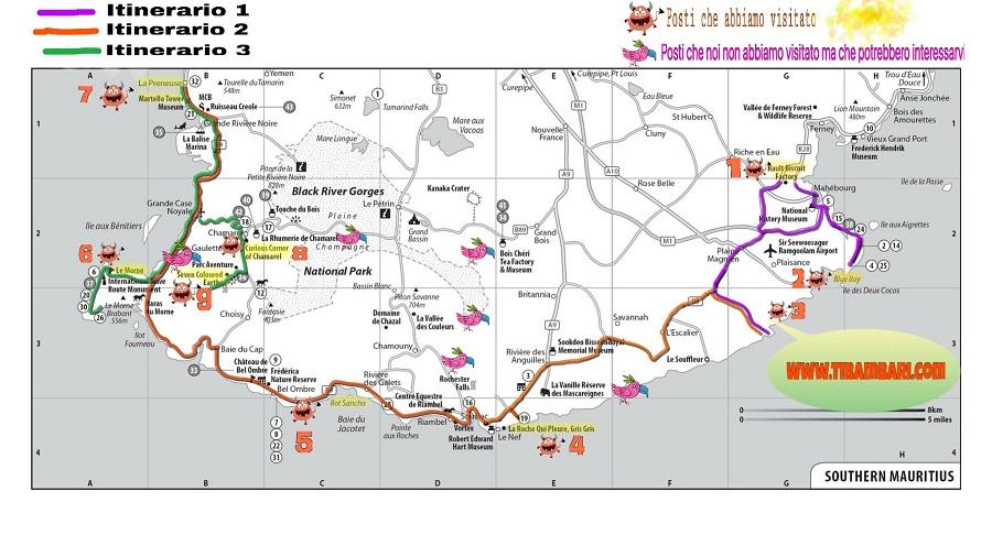 Mauritius fai da te, itinerario costa sud!
