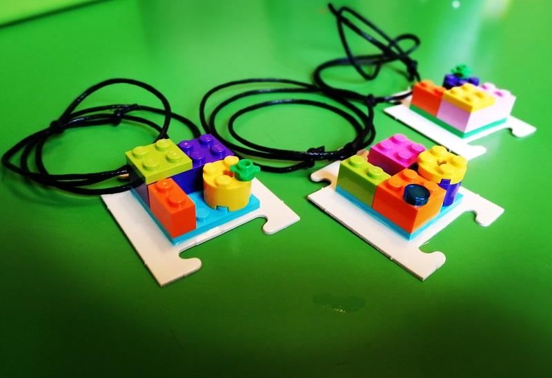 Ciondolo Lego & Puzzle per collana: facile e veloce da realizzare!  Pendant Lego & Puzzle!