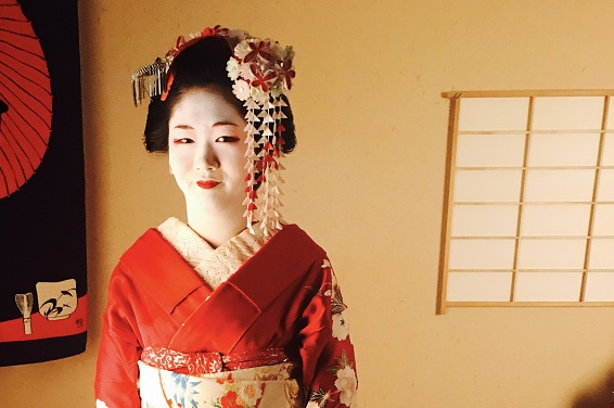 geisha acconciatura