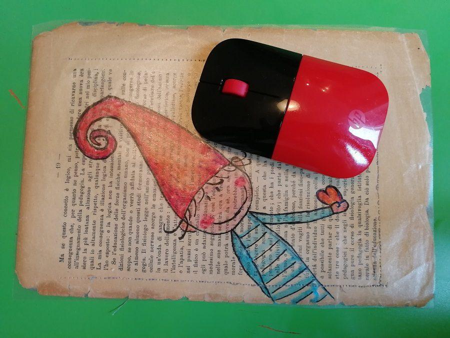 Mouse Pad Fai Da Te. Regalo di Natale o per la festa del papà da fare con i bambini!